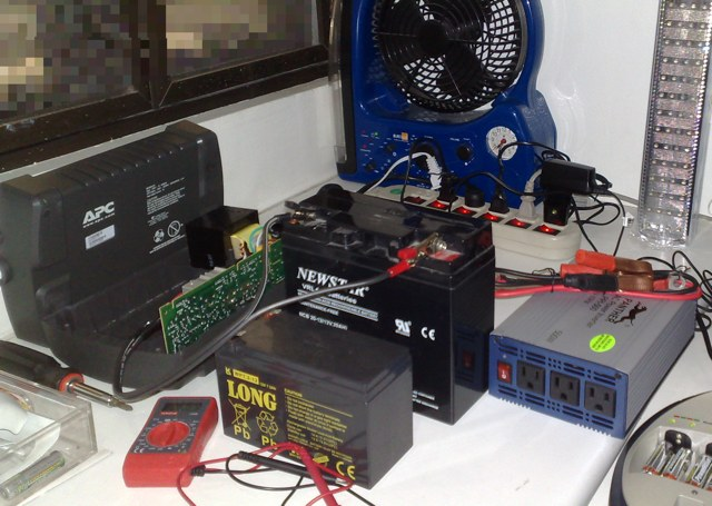 Building a homebrew backup power pack for electricity supply emergency 12 volt batteries charging sciox Image collections