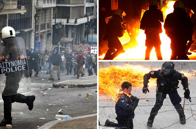 Greek protest riots